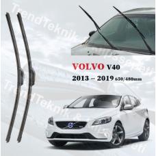 Silecek Seti VOLVO V40 2013 - 2019 inwells MUZ  HS028