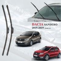 DACIA SANDERO 2015-2019 RBW ON CAM MUZ SİLECEK TAKIMI HS065