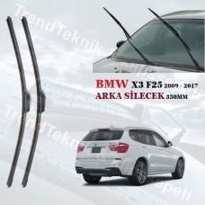 SILECEK BMW X3 F25 2009 - 2017 RBW ARKA CAM  SILECEK 330 MM HS502