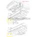 VW Audi SEAT Bagaj, RADYATOR,IZGARA,Döşeme Klips  801867299 01C